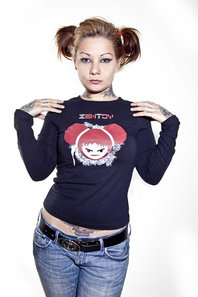 ZenToy - Girl Black T-Shirt (Long Sleeves)
