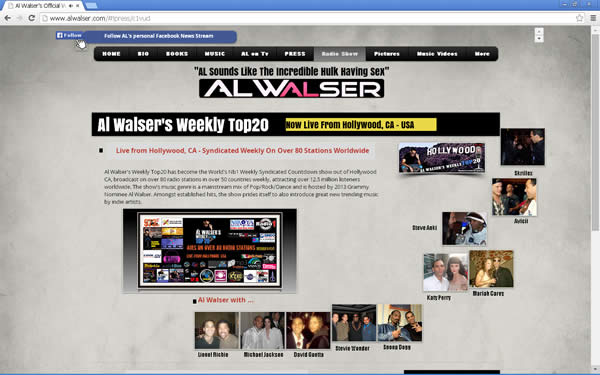 ZenToy - Paradise on the Web - Al Walser Top 20 Show