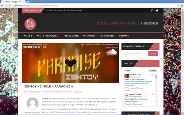 ZenToy - Paradise on the Web - Be Musique